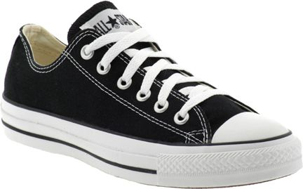"""Katie Couric's Shoe Picks Converse Chuck Taylors """"These were made for a weekend outfit jeans, tee, pearls & my hair in a ponytail."""""""