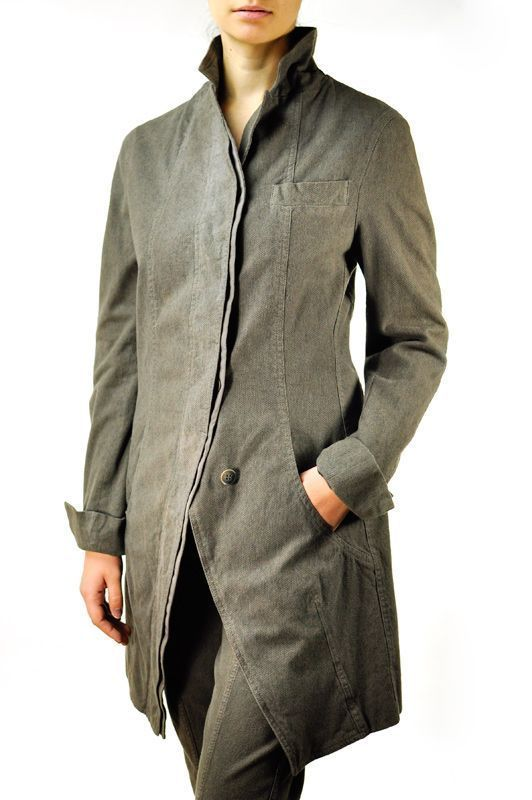 Annette Gortz Long Jacket Oak Originally $1010 Retail Size 40 Germany Shadow  #AnnetteGortz #BasicCoat
