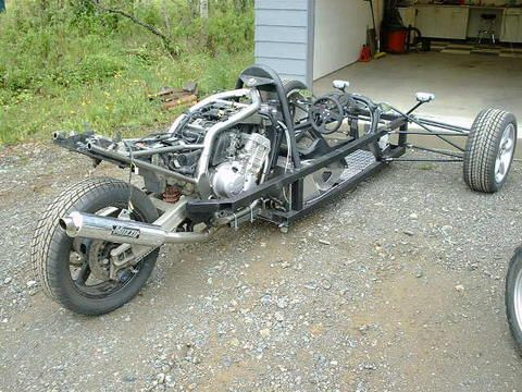 """Kickass reverse trike called an """"Indycycle"""""""
