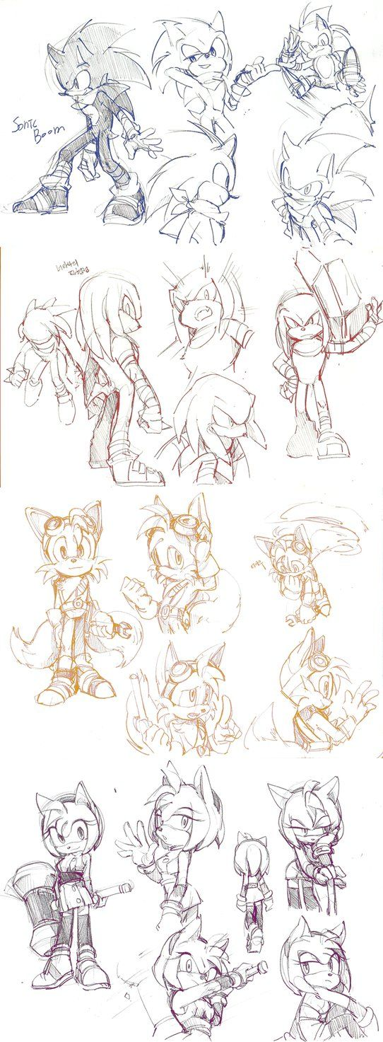 I think these sketches are better than the actual character designs… just my opinion though