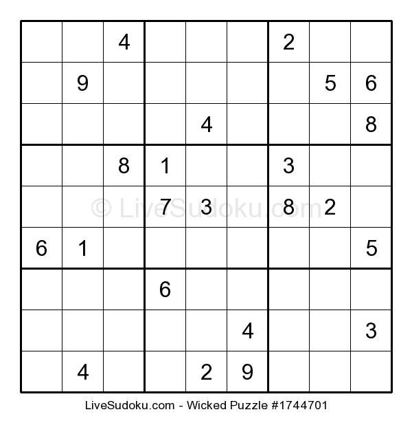 Play this puzzle at: http://www.livesudoku.com/en/sudoku/wicked/1744701