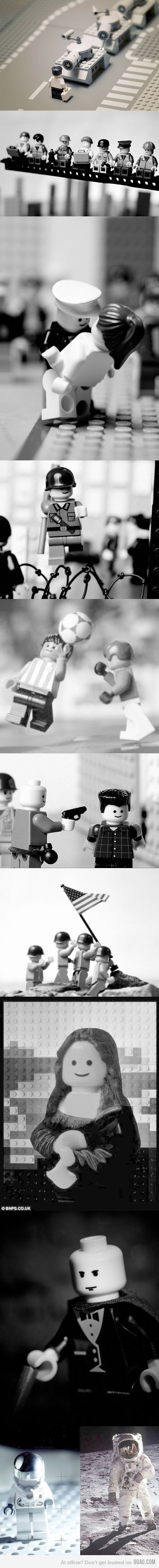 Famous photos recreated in Lego