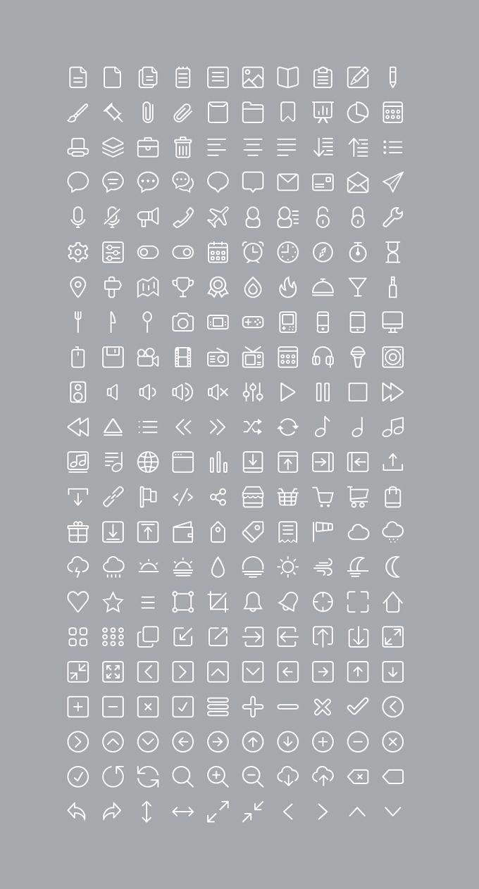 220 Glyph Icons - 365psd - http://365psd.com/day/4-274/