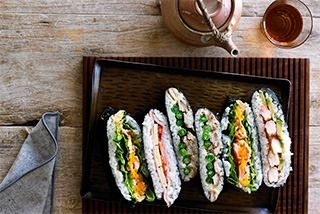 Adam Liaw shows how to make super simple sushi sandwiches in this article with accompanying video.