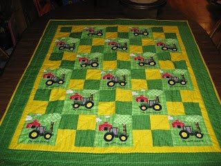 Tractor Quilt - easy, colorful & fun by Linda Schrankel
