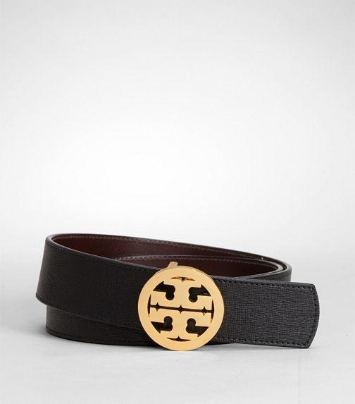 Tory Burch reversible logo belt $195