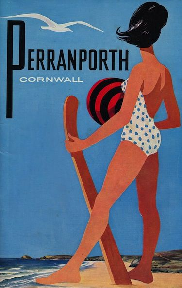 Cornwall - vintage travel poster.