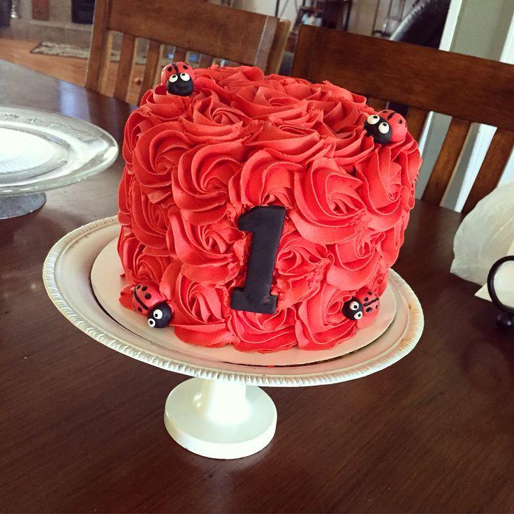 Ladybug rosette smash cake!