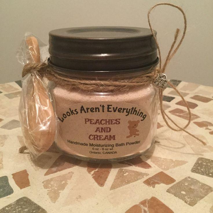 Handmade bath powder, scented bath powder, bath fizzie, moisturizing bath powder, gift for friend, homemade gift, with spoon by LooksArentEverything on Etsy