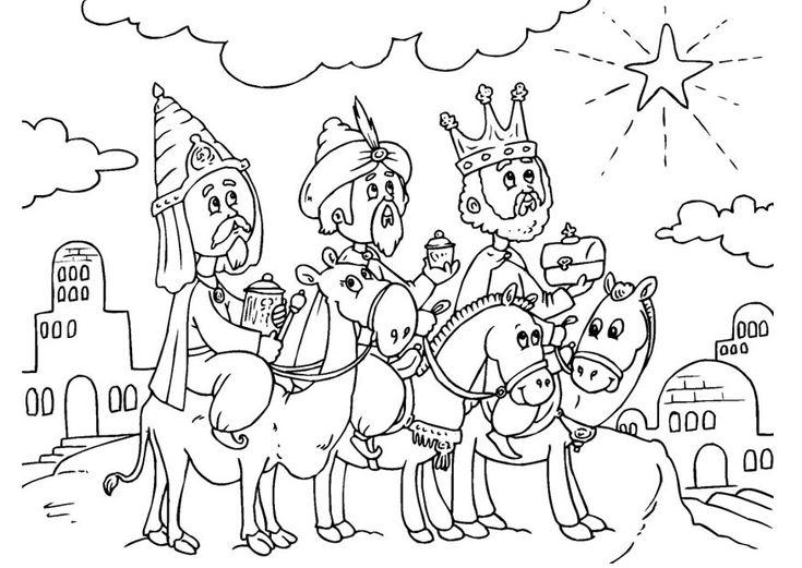 Imágenes de los Reyes para colorear   Lindas Imágenes