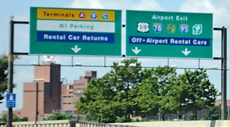RP http://www.GogelAutoSales.com Ea. Hanover Family owned. Former rental cars - smartest used car buy.   The exit signs at Newark Airport! I was so excited seeing the trailblazer shields I remember seeing so much as a kid: Route 1-9's, Route 78's, Route 95's, the GSP's, and the NJTP's!!!