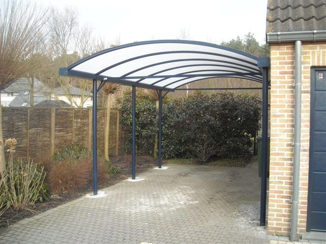Atap Carport Di Atas Fiber Glass Nya Dipasang Jaring