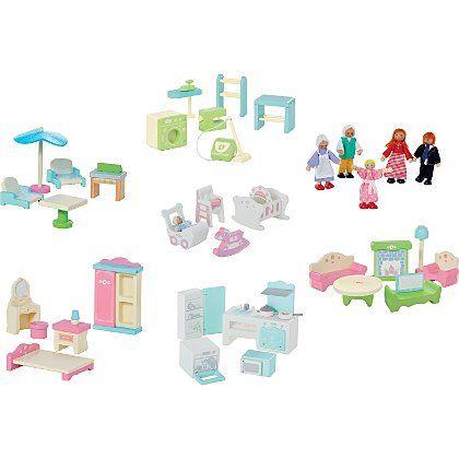 George Home Large Dolls House Furniture Set Bundle | Kids | George at ASDA