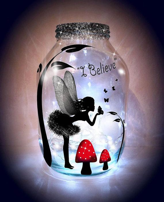 Hand painted Kissing Fairy Lantern, candle holder, light jar, night light, wedding centrepiece, MADE TO ORDER.