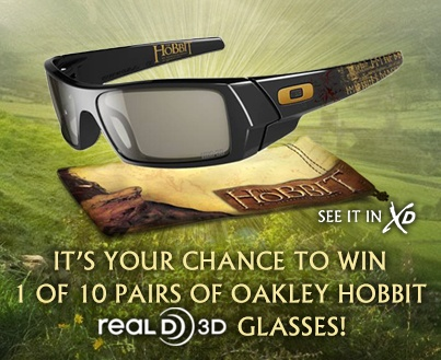 Don't miss your chance to win a pair of Oakley Hobbit 3D glasses! https://www.facebook.com/cinemark/app_208585222608866 *Note this link can only be accessed via a computer.