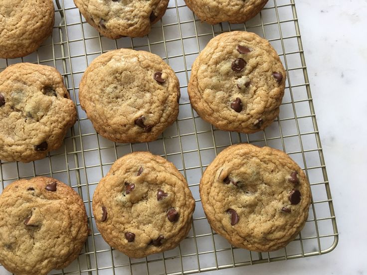 For these chewy chocolate chip cookies you will need 2 cups & 2 tablespoons flour 1 teaspoon baking soda 1 teaspoon salt 1 1/2 sticks butter, melted and cooled 1 cup brown sugar 1/2 cup sugar 2…