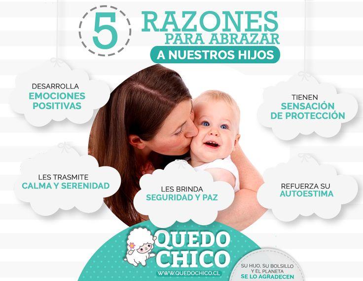 En #QuedoChico te brindamos los consejos y la información necesaria para la crianza de tus pequeños. ¡Checa nuestras 5 buenas razones para abrazar a tus hijos!