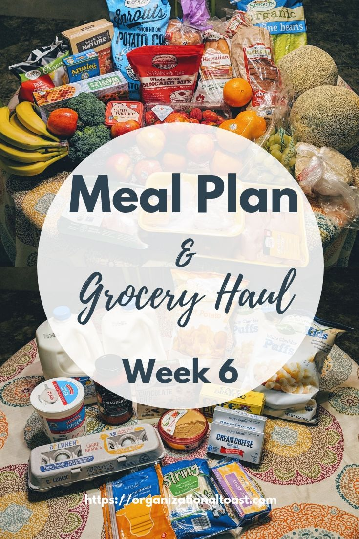 Grocery Haul and Weekly Meal Plan – Week 6