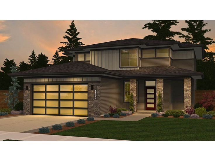 Home Plan HOMEPW77885 is a gorgeous 2274 sq ft, 2 story, 4 bedroom, 2 bathroom plan influenced by Contemporary-Modern Homes style architecture.