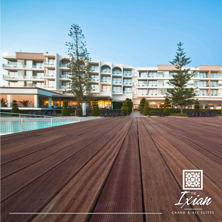 Follow the wooden carpet to your premier vacation resort: The Ixian Grand & All Suites!