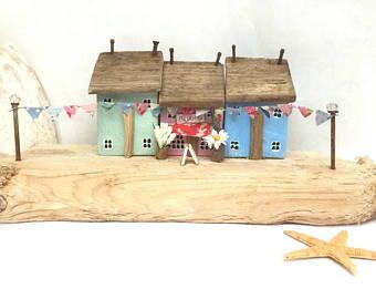 Decoración náutica, casa madera, casa de madera flotante, regalo para mamá, regalos para mamá, regalo de cumpleaños para ella, regalo de boda, regalo de aniversario 5, madera