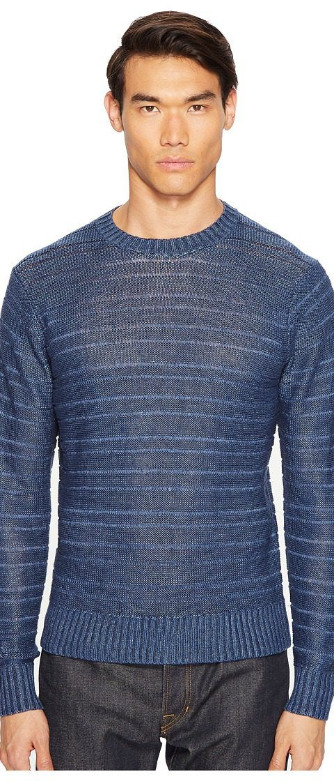 Todd Snyder Linen Delave Drop Stitch Crew (Navy) Men's Sweater - Todd Snyder, Linen Delave Drop Stitch Crew, SW1897146, Apparel Top Sweater, Sweater, Top, Apparel, Clothes Clothing, Gift, - Street Fashion And Style Ideas