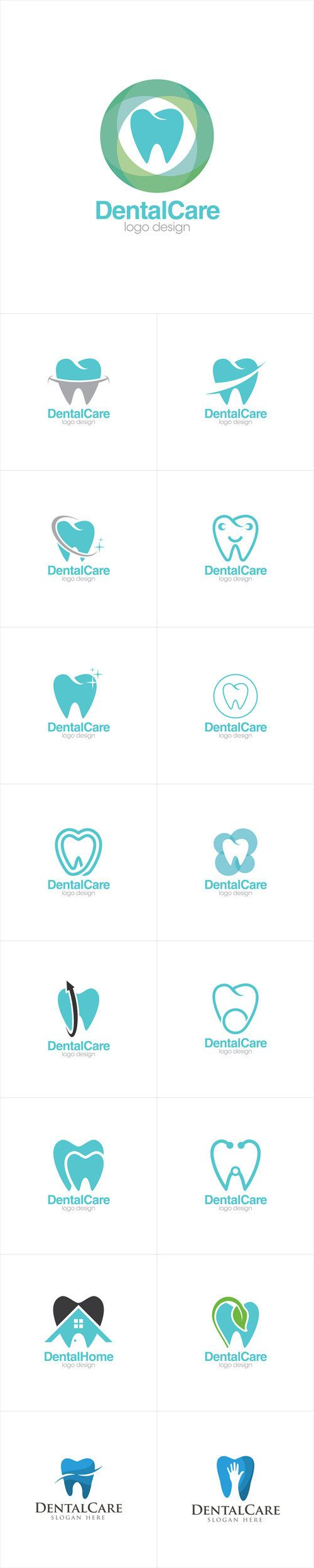 Vectors - Dental Care Creative Concept Logo Design Templates
