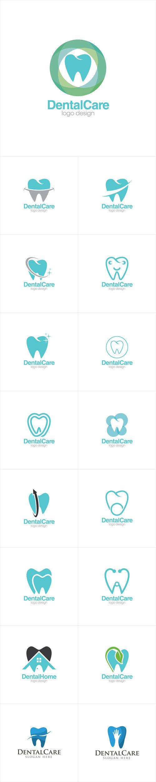 Vectors - Dental Care Creative Concept Logo Design Templates