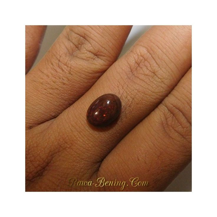 Jual Batu Mulia Natural Black Opal Kecoklatan Oval Cabochon 2.85 Carat