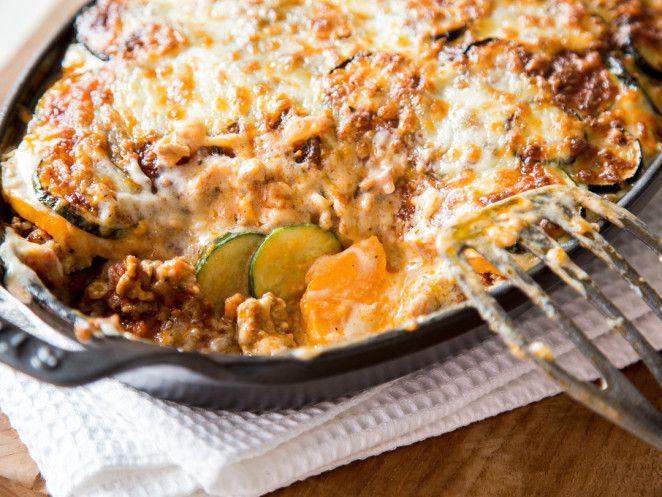 Ofenschlemmerei: Zucchini-Moussaka mit Süßkartoffel