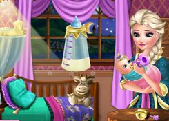 JuegosElsa.com - Juego: Niñera Elsa - Minijuegos de la Princesa Elsa Frozen Disney Jugar Gratis Online