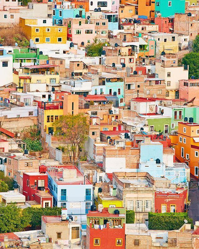 Pour la photo N•8, on vous emmène dans la ville la plus colorée que l'on ait jamais vu!! Guanajuato à 5 h de route au nord de Mexico est à ne pas manquer. Une mosaïque de couleurs incroyables! #BestofMexico 🇲🇽 Bonne soirée 😉 Elisa & Max ( Bestjobers / @elisaparkranger )