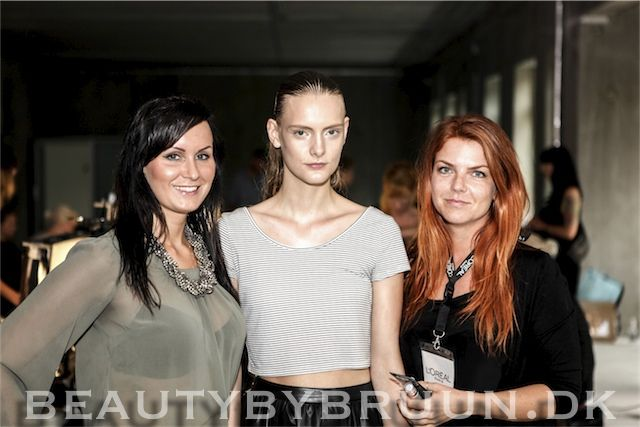 Check out the cool backstage pictures from the exclusive Designers Remix SS14 show. I was backstage interviewing key makeup artist, anne staunsager, about the makeup for the show. Learn more here www.beautybybruun.dk/b