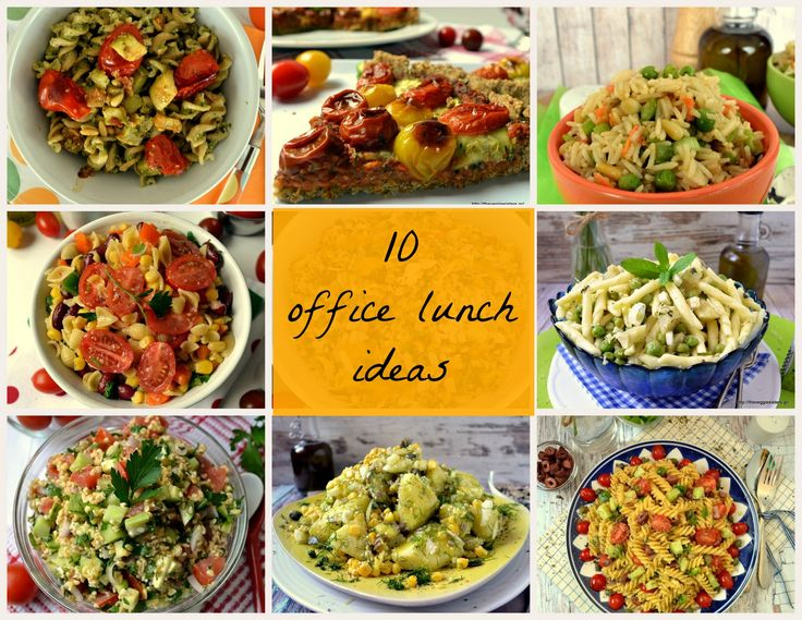 10 office lunch ideas: easy, quick, healthy and yummy dishes that are easily portable!