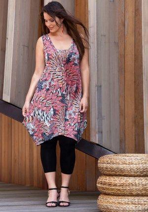 exelle red-black-white summer tunic-dress