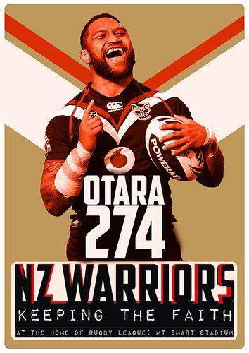 nz warriors poster