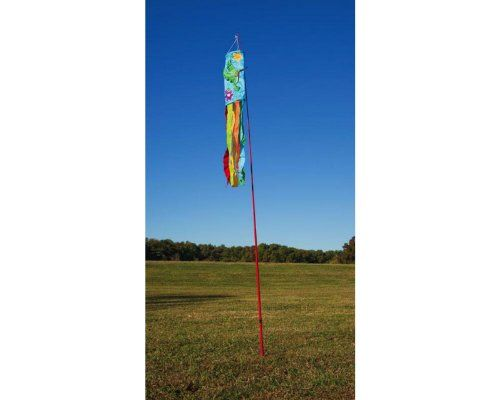 10 Decorative Red Metal Telescoping Flexible Flag Pole