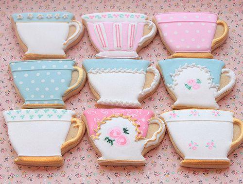 Vintage tea cup cookies by Miss Biscuit   Miss Biscuit   Flickr