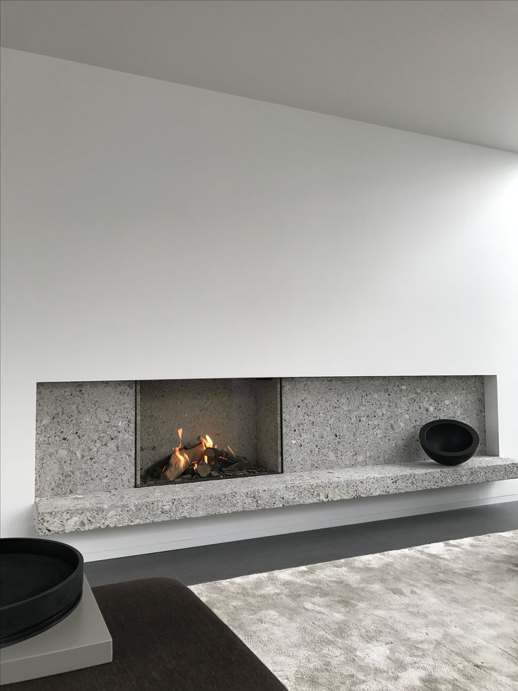 Fireplace in Ceppo di Gre - VLJ Residence Belgium by vlj-architecten