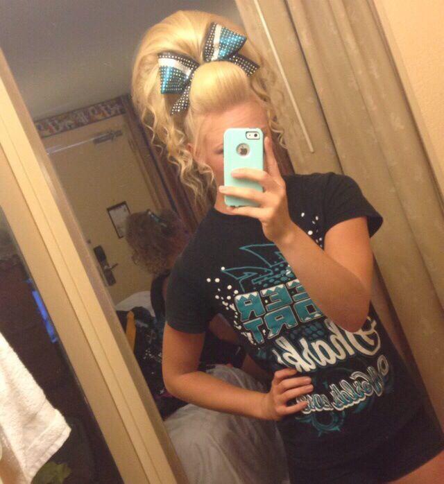 Sara from Cheer Sport Great White Sharks Hair
