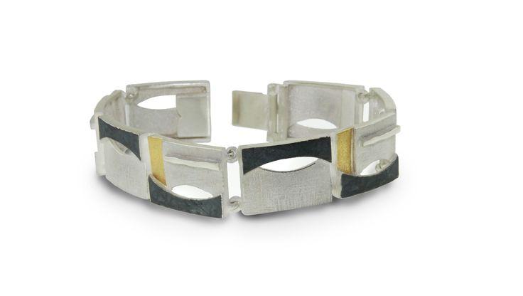 Bracelet silver and gold  Audar collection Ref.20B1833 www.enrictorres.com
