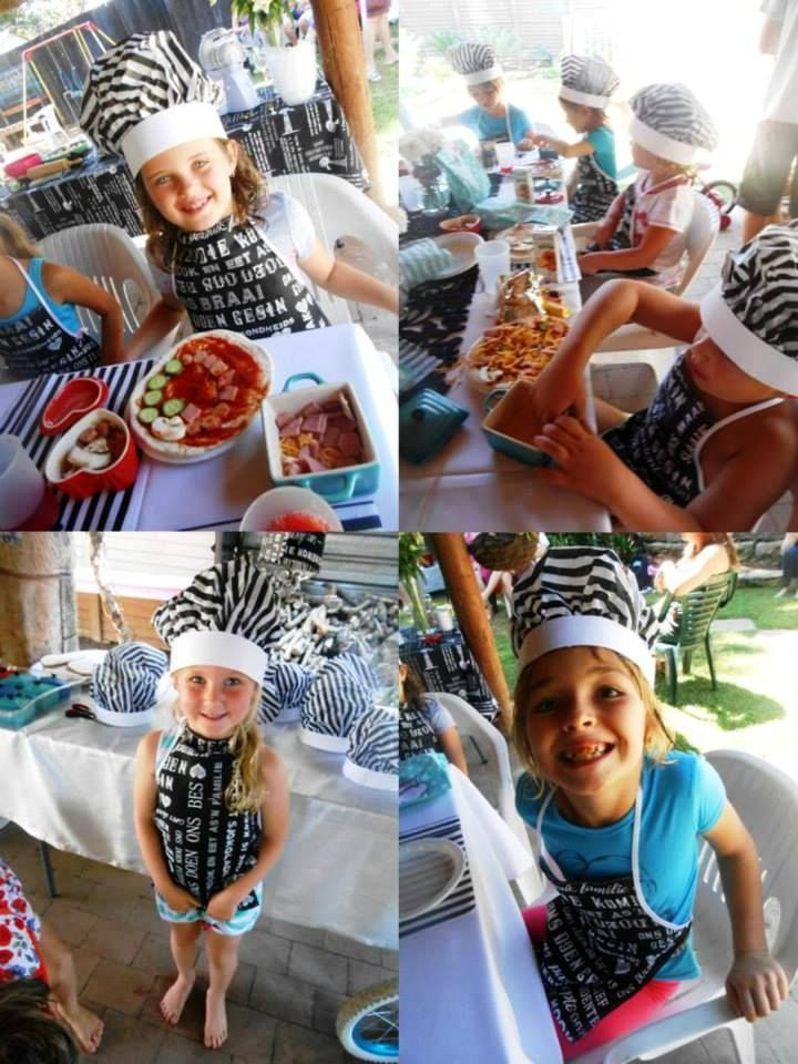 Chef party ideas. Cooking party. Pizza party. Kids' birthday parties. Three's a'loud. Parenting blog.