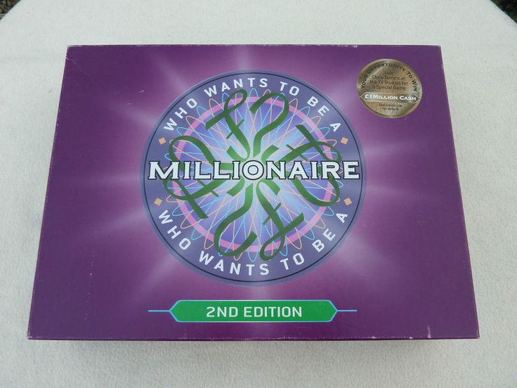 WHO WANTS TO BE A MILLIONAIRE II EDITION  GAME TOYS FAMILY FUN PRESENT GIFT