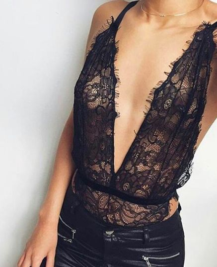 lace + leather #nastygal