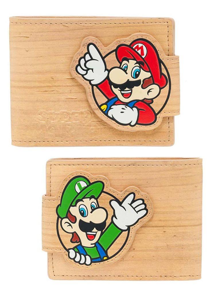 Billetera caras Mario y Luigi. Nintendo  Estupenda billetera con la imagen de Mario y Luigi perteneciente al videojuego de éxito de Super Mario Bros de la consola Nintendo, 100% oficial y licenciado que sin duda te encantará si eres fan de ellos dos.