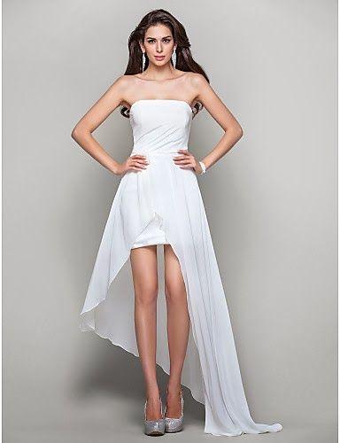 Fenomenales vestidos de fiesta asimétricos   Moda y Tendencias 2014