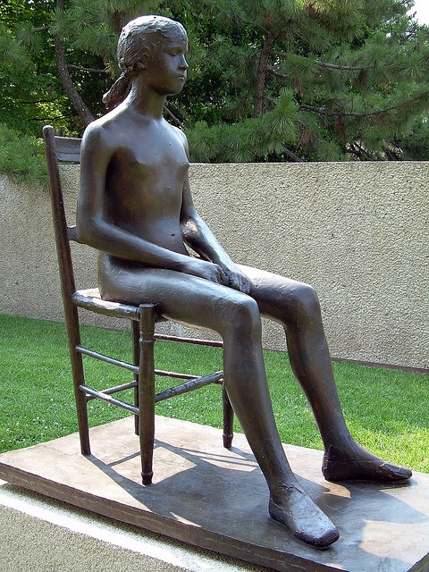Young Girl on a Chair Giacomo Manzu Hirshhorn Museum and Sculpture Garden Washington, DC Gorgeous young girl