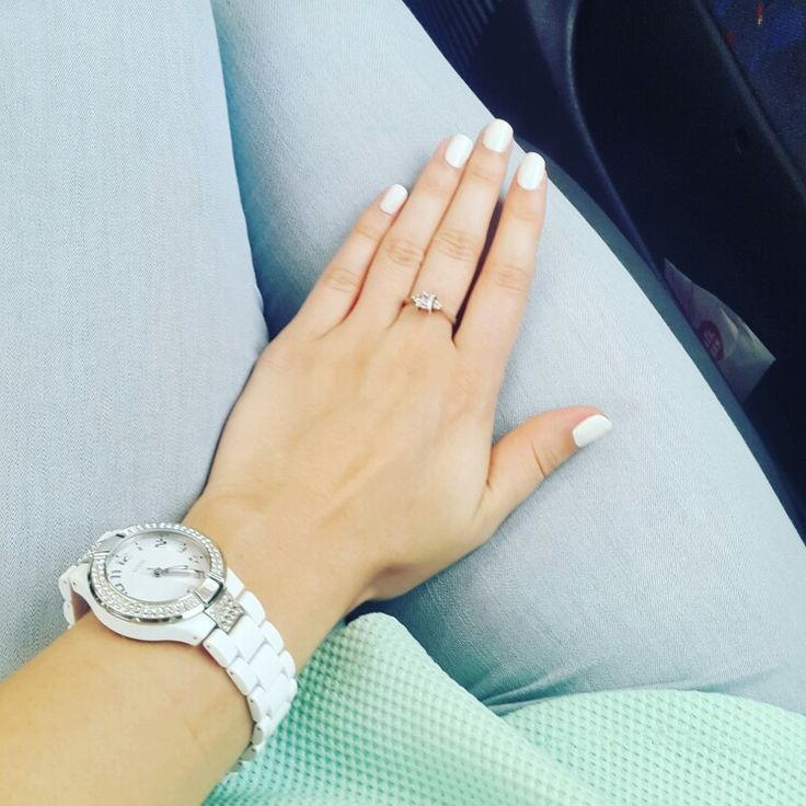 All white manicure
