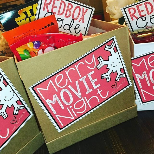 These editable gift tags are movie themed! Easy ideas for room parents, co-teachers, friends, principals, kids you tutor, etc. The front and movie code tags are included in the freebie. Great for the holiday season. The tags can also be attached to gift b