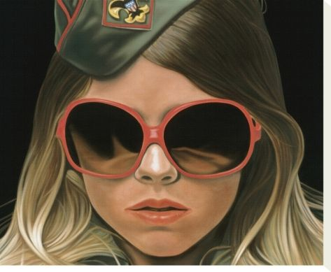 "Scout - crop by Richard Phillips. Stretched canvas print from the Artist Production Fund's ""Works We Love"" collection on Art.com: http://www.art.com/me/APF"